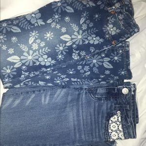 (2) Cat and Jack {girls} jeans size 10